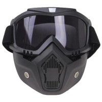 TaffSPORT BOLLFO Kacamata Goggles Mask Motor Retro Anti Glare Windproo