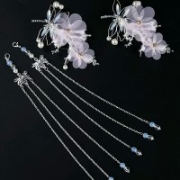 Sangjit Hair Pin Chinese Ancient Butterfly Tassel Hair Accessories