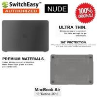 Case Macbook Air 13 Inch 2018 SwitchEasy Nude Original - Smoke Black