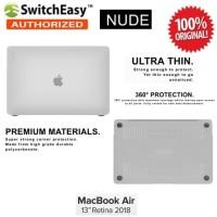 Case Macbook Air 13 Inch 2018 SwitchEasy Nude Original - Clear