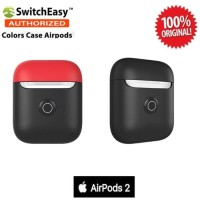 Case Airpods 2 SwitchEasy Color Charging Original - Black Red