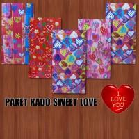 PAKET KERTAS KADO KIKY SWEET LOVE ( 50 LBR )