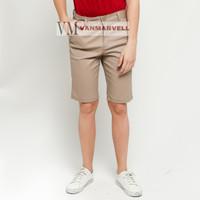 VM Celana pendek Chino Slimfit Coklat Muda