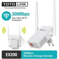 New TOTOLINK EX200 Wireless N Range Extender 300Mbps Penguat sinyal
