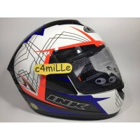 HELM INK CL MAX MOTIF #3 WHITE ROYAL BLUE RED FLUO FULL FACE