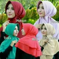 Promo Hijab Kerudung Jilbab Instan Khimar Rubiah Pet Pad Bergo Aisyah