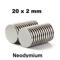 Magnet Super Neodymium Coin Round Cylinder Bulat NdFeB 20 x 2 mm