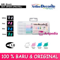ARTLINE Decorite Brush Marker Pastel Colour- ARTLINE EDF-1/4PSH1