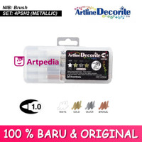 ARTLINE Decorite Brush Marker Metallic Colour - ARTLINE EDF-1/4PSH2