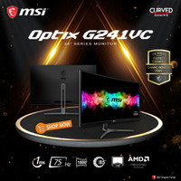 MSI Optix G241VC 24 Inch Curved Gaming Monitor - 1080p FHD 75Hz 1ms