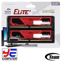 TEAM ELITE PLUS DDR4 8GB (2x4GB) RED for AMD RYZEN - PC-19200 2400Mhz