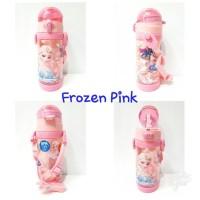 Botol Minum/Botol Minum Anak Sedotan sz 450ml/Bpa Free/Frozen Pink