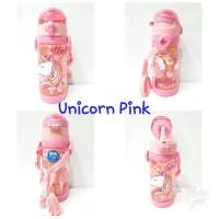 Botol Minum/Botol Minum Anak Sedotan sz 450ml/Bpa Free/Unicorn Pink