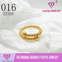 Cincin polos lapis emas perhiasan imitas Yaxiya Jewelry 016