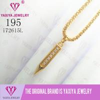 Liontin lapis emas Permata imitasi Gold18k Yaxiya Jewelry 195