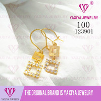 Anting Permata Lapis emas Perhiasan imitasi Gold18k Yaxiya Jewelry 100