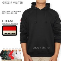 GM Sweater Hoodie Polos Tactical 6 Warna Free Patch