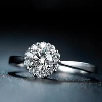 Cincin Wanita Emas 18k Berlian/Diamond Nikah/Tunangan/Kawin Murah