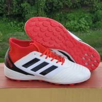 Sepatu Futsal Predator 18.3 White Red TF Replika Impor