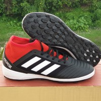 Sepatu Futsal Predator 18.3 Core Black Red TF Replika Impor