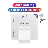 AIRPODS i12 TWS TOUCH BLUETOOTH 5.0 EARPHONE 3D STEREO WIRELESS ORI