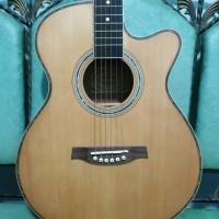gitar akustik RMG Original Solid list Kerang Trusrod Murah Jakarta
