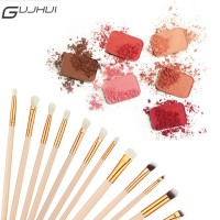 GUJHUI 12Pcs / Set Brush untuk Bedak / Eyeshadow / Bibir / Blush On