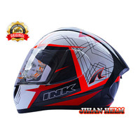 helm/helm/helm full face ink cl max 3 white red termurah