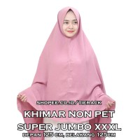 PROMO!! Khimar SUPER JUMBO NON PET Wolfis (Jilbab Model Syiria)
