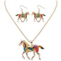 Kalung & Anting Wanita Model Kuda Cantik - Multi Warna