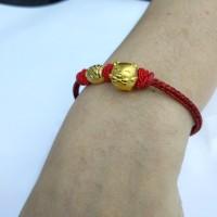 gelang pandora merah babi dan tabung 999.9%