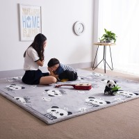 Karpet Alas Lantai dengan Bahan Velvet Coral Velvet Ukuran Besar 2cm