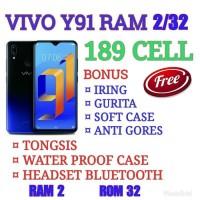 Baru Vivo Y91 Ram 2/16 Garansi Resmi Vivo Indonesia - Hitam Terbaru