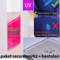 Securemark 2 - TInta Stempel UV + Bantalan lambat kering