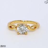 Z210 Cincin Couple Wedding Tunangan (Set Perhiasan Xuping Lapis Emas)