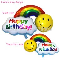 Balon Foil 2 Side (Have a Nice Day & Happy Birthday)