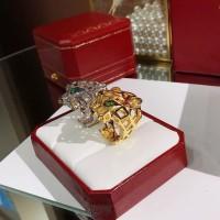 PANTHERE DE CARTIER Ring Cincin w. Tsavorite Garnets n Onyx ORIGINAL