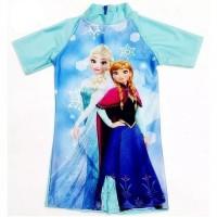 baju renang anak perempuan gambar elsa anna frozen usia 3-5 tahun