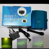 N.E.W PRODUK Mini Laser Stage Lighting Sensor Music Lampu Disco Party