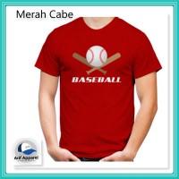 Kaos Baseball - Kaos Pria (RedMango)