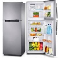 Samsung Kulkas 2 Pintu Freezer Atas RT25FARBDSA 255 Liter Silver Free