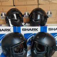 Shark Raw Matte Black / Black Doft