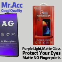Tempered Glass Matte Anti Blue+Anti Glare Mr Acc Samsung A20 a20