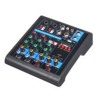 Mini 4 Channels USB Portable Audio Mixer bluetooth Live Studio Audio 4