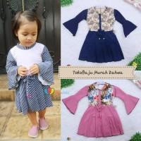 Dress Sissy 1-2 Tahun / Dress Anak Lengan Panjang 3/4 Baju