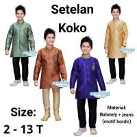 Setelan Baju Koko Anak India Balotely Jeans Baju Muslim Anak