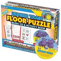NUMBER TRAIN Giant Floor Puzzle with Music CD & Activity Book (WW)