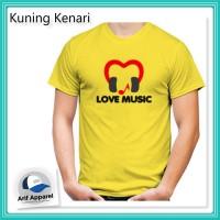 Kaos Love Music - Kaos Pria (RedMango)