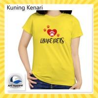Kaos Love Pets - Kaos Wanita (RedMango)