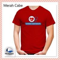 Kaos Sayangi Jantungmu - Kaos Pria (RedMango)